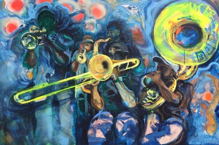 Acryl op canvas, 70 x 100 cm