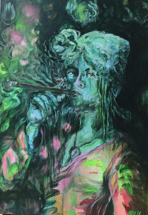 Acryl op doek, 70 x 100 cm