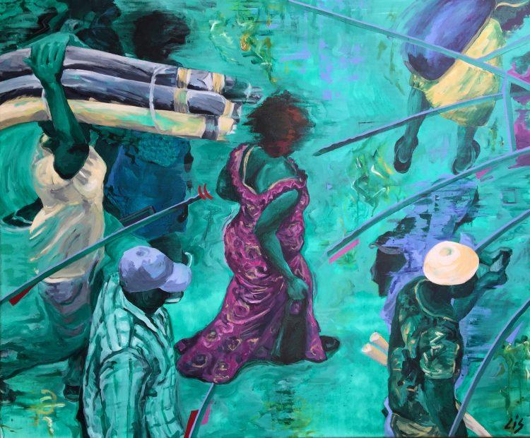 Acryl op canvas, 100 x 120 cm
