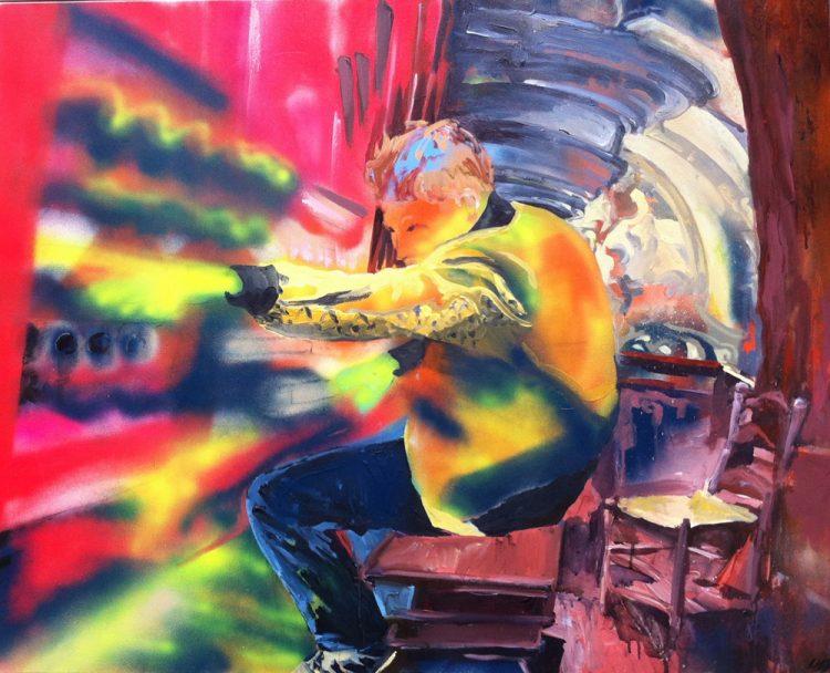 Acryl op doek, 100 x 80 cm
