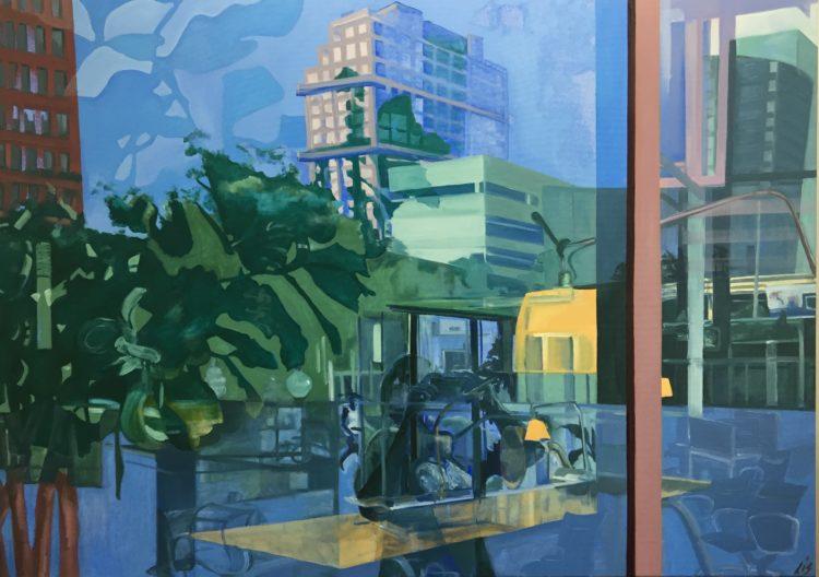 olieverf op canvas, 100 x 140 cm. VERKOCHT