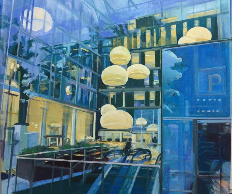 Olieverf op canvas, 70 x 80 cm. VERKOCHT