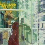 olieverf en epoxy op canvas, 70 x 60 cm